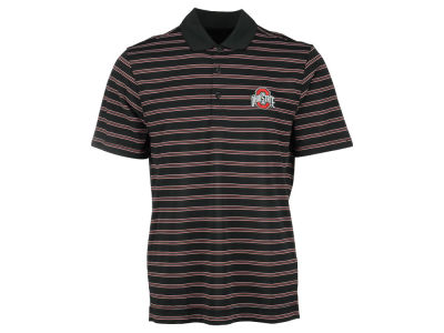 Ohio State Buckeyes NCAA Men's Drytec Backspin Stripe Polo Shirt