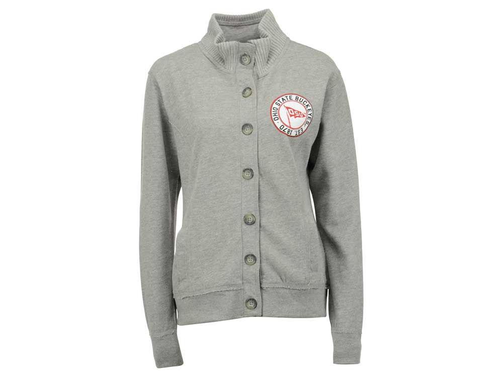 Ohio State Buckeyes NCAA Women's Button Up Fleece Sweater | lids.com