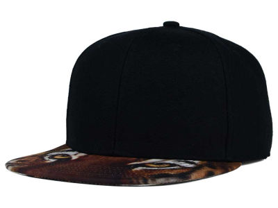 Tiger Eyes Printed Visor Snapback Hat