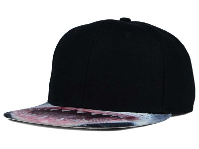 Shark Mouth Printed Visor Snapback Hat