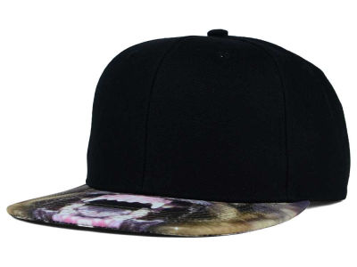 Angry Dog Mouth Printed Visor Snapback Hat