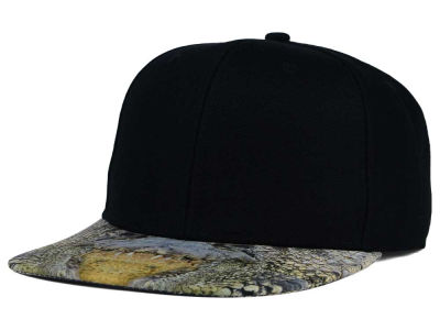 Crocodile Mouth Printed Visor Snapback Hat