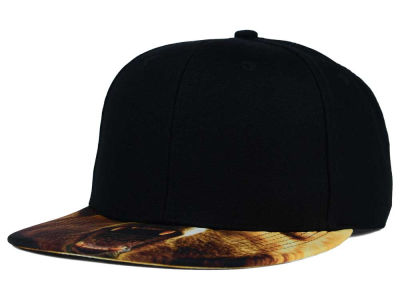 Angry Grizzly Printed Visor Snapback Hat