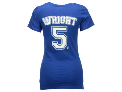 New York Mets David Wright  5th & Ocean MLB Women's Foil Player V-Neck T-Shirt