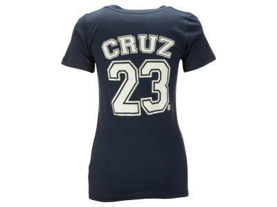 Seattle Mariners Nelson Cruz 5th & Ocean MLB Women's Foil Player V-Neck T-Shirt