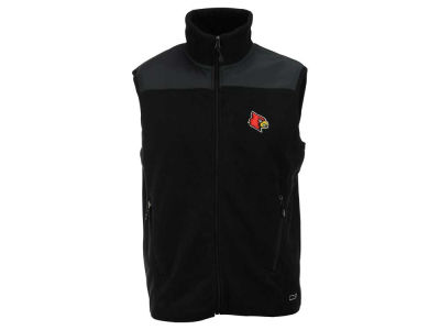 Louisville Cardinals NCAA Men's Full Zip Poly Fleece Vest