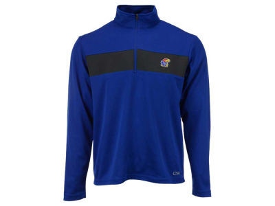 Kansas Jayhawks NCAA Men's Half Zip with Pieced Stripe