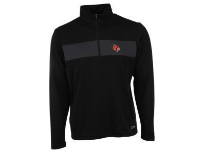 Louisville Cardinals NCAA Men's Half Zip with Pieced Stripe