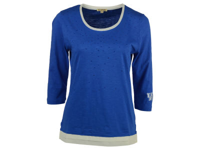 Kentucky Wildcats NCAA Women's Plus Size Scattered Rhinestone 3/4 Sleeve T-Shirt