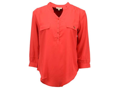 Louisville Cardinals NCAA Women's Plus Size Button Down Tunic Shirt