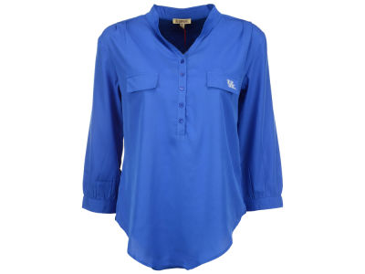 Kentucky Wildcats NCAA Women's Plus Size Button Down Tunic Shirt