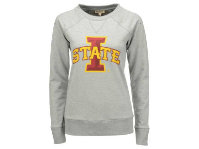 Iowa State Cyclones NCAA Women's Plus Size Rhinestone Shoulder Crew Fleece Sweatshirt