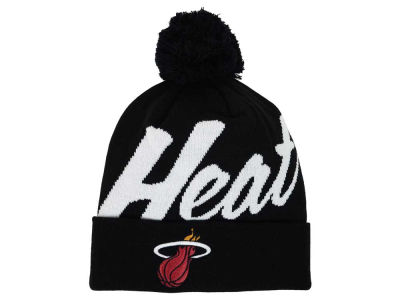 Miami Heat Mitchell and Ness NBA Double Up Cuff Knit