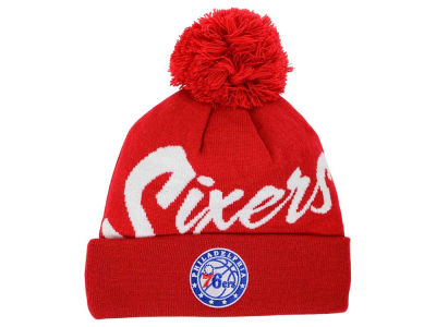 Philadelphia 76ers Mitchell and Ness NBA Double Up Cuff Knit