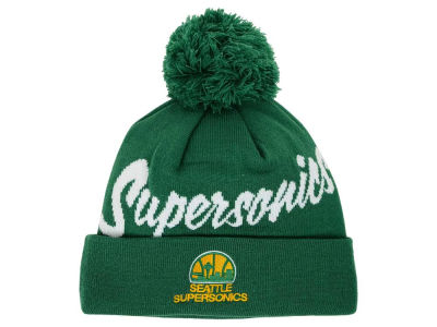 Seattle SuperSonics Mitchell and Ness NBA Double Up Cuff Knit