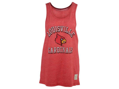 Louisville Cardinals Retro Brand NCAA Men's Arch Mascot Mock Twist Tank