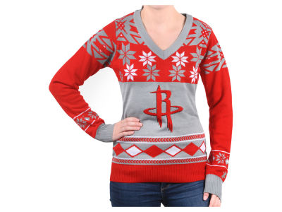 Houston Rockets La Tilda NBA Women's Big Logo V-Neck Sweater