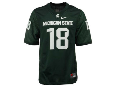 Michigan State Spartans #18 Nike NCAA Replica Football Game Jersey