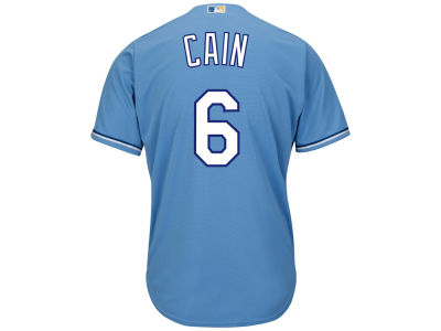 Kansas City Royals Lorenzo Cain Majestic MLB Men's Player Replica Cool Base Jersey