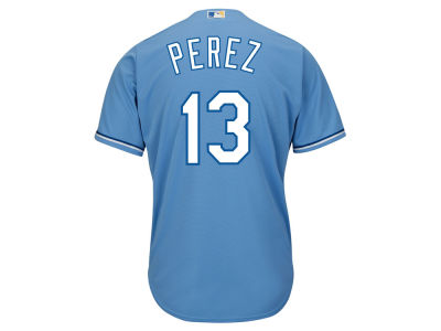 Kansas City Royals Salvador Perez Majestic MLB Men's Player Replica CB Jersey