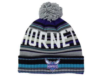 Charlotte Hornets Mitchell and Ness NBA G-Super Stripe Pom Knit