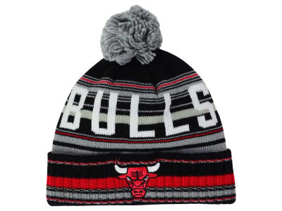 Chicago Bulls Mitchell and Ness NBA G-Super Stripe Pom Knit