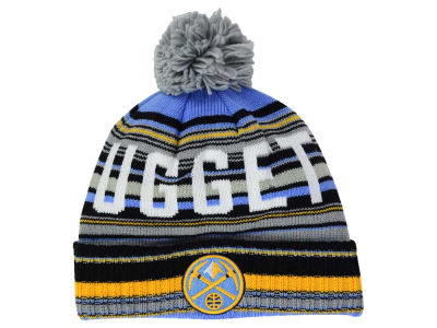 Denver Nuggets Mitchell and Ness NBA G-Super Stripe Pom Knit
