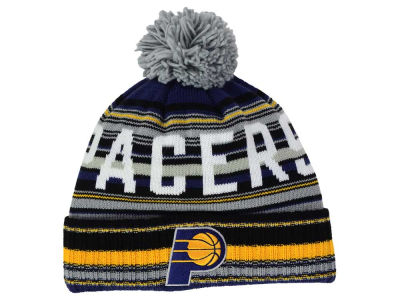 Indiana Pacers Mitchell and Ness NBA G-Super Stripe Pom Knit