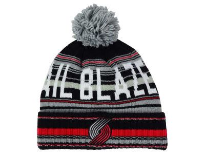 Portland Trail Blazers Mitchell and Ness NBA G-Super Stripe Pom Knit