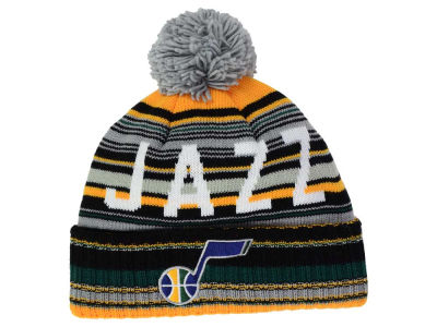 Utah Jazz Mitchell and Ness NBA G-Super Stripe Pom Knit