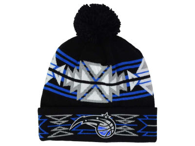 Orlando Magic Mitchell & Ness NBA Black Geotech Cuffed Pom Knit