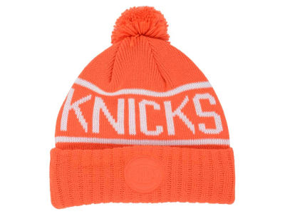 New York Knicks Mitchell and Ness NBA Reflective Patch Knit