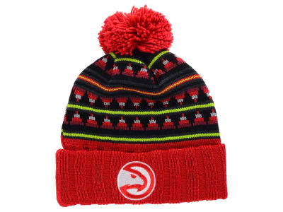 Atlanta Hawks Mitchell & Ness NBA Mixtec Pom Knit