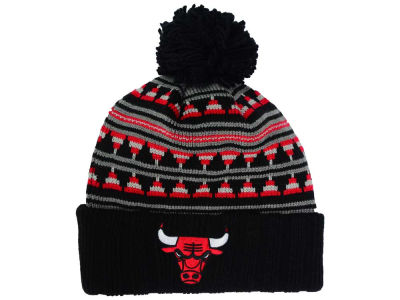 Chicago Bulls Mitchell and Ness NBA Mixtec Pom Knit