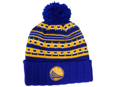 Golden State Warriors Mitchell and Ness NBA Mixtec Pom Knit