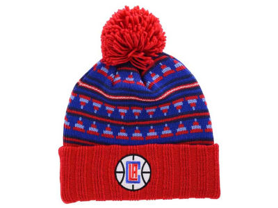 Los Angeles Clippers Mitchell and Ness NBA Mixtec Pom Knit