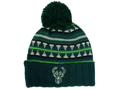 Milwaukee Bucks Mitchell and Ness NBA Mixtec Pom Knit