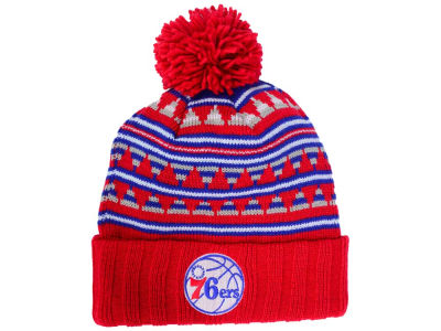 Philadelphia 76ers Mitchell and Ness NBA Mixtec Pom Knit