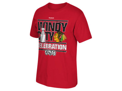 Chicago Blackhawks Reebok NHL 2015 Youth Celebration Champs T-Shirt