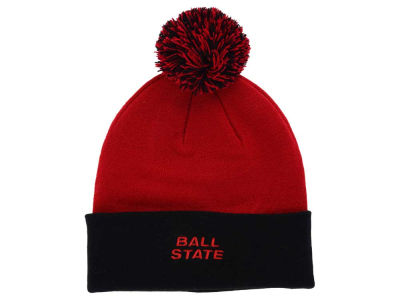 Ball State Cardinals Top of the World NCAA 2 Tone Pom Knit