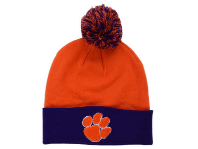 Clemson Tigers Top of the World NCAA 2 Tone Pom Knit