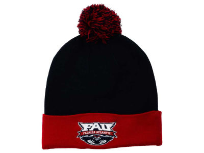 Florida Atlantic Owls Top of the World NCAA 2 Tone Pom Knit