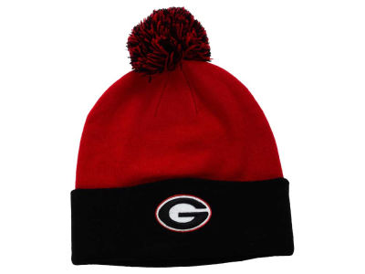 Georgia Bulldogs Top of the World NCAA 2 Tone Pom Knit