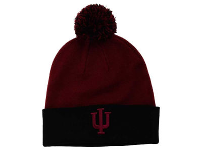 Indiana Hoosiers Top of the World NCAA 2 Tone Pom Knit