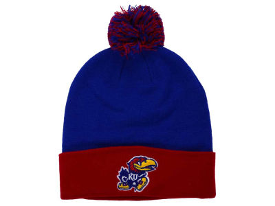 Kansas Jayhawks Top of the World NCAA 2 Tone Pom Knit
