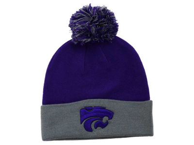 Kansas State Wildcats Top of the World NCAA 2 Tone Pom Knit