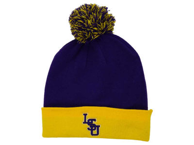 LSU Tigers Top of the World NCAA 2 Tone Pom Knit