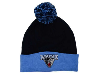 Maine Black Bears Top of the World NCAA 2 Tone Pom Knit