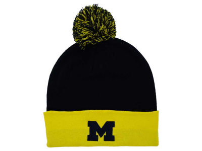 Michigan Wolverines Top of the World NCAA 2 Tone Pom Knit