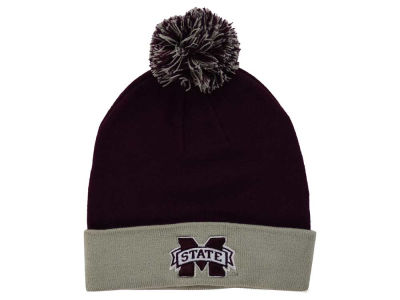 Mississippi State Bulldogs Top of the World NCAA 2 Tone Pom Knit